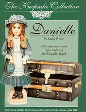 Danielle a 3-D Paper Doll & Her Trunk - based on an Antique French bisque doll