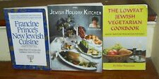 LOT OF 4 ETHNIC JEWISH COOKBOOKS CUISINE HOLIDAY KITCHEN VEGETARIAN CREOLE RARE