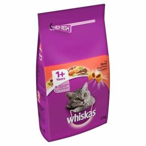 Whiskas Cat Complete Dry with Beef 2kg