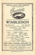 Wonderful 1931 Wimbledon  Greyhound Racing booklet 34th  meet rare.