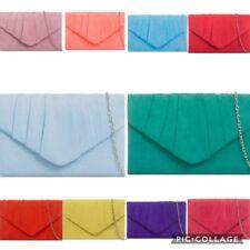 New Women Ladies Designer Suede velvet Clutch Bag Handbag Party Prom Wedding