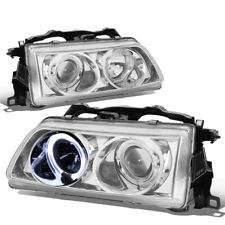 Fit 1988-1989 Honda CRX Pair LED Halo Ring+Projector Front Bumper Headlight/Lamp
