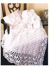 Crochet Pattern Baby Blanket Afghan PATTERN ONLY 33 x 43in Aran #laa2