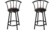 Buckner Black Metal Counter Height Stool Chair by Coaster 2395 - Set of 2