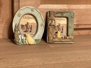 2 NEW Disney Winnie the Pooh Magnet Mini Picture Frame Photo Piglet Charpente
