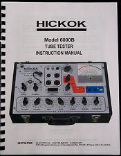 *USA* True Hickok 6000B Dynamic Tube Tester Complete Instruction Manual