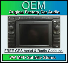 VW Passat B5.5 Sat Nav, VW MFD Navigation car stereo + Map Disc, Colour Screen