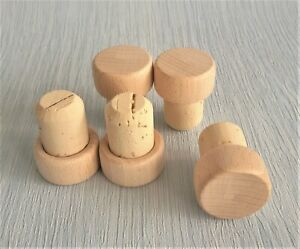 T Top Wooden Stopper Cork 19 mm Bottle Bung Plug Wine PACK OF 50