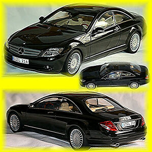 Mercedes Benz CL Class C 216 Coupe 2006-10 Obsidian Black Metallic 1:18 Autoart