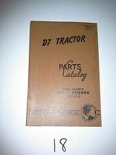Caterpillar D7 Tractor Parts Catalog 1955 Ser # 3T1-3T19999