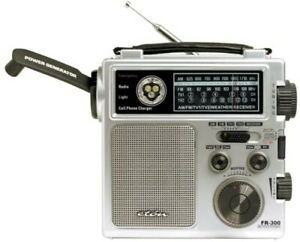 American Red Cross FR300 Emergency AM/FM Crank Rechargeable Radio- Silver
