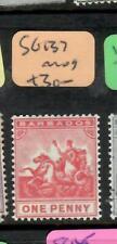 BARBADOS  (P1505B)  SEA HORSE   1D      SG 137    MOG