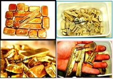 Scrap gold bar 50 grams for Gold Recovery melted different computer pins