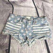Roxy   Stars & Stripes Denim Shorts Size 7 size 28 EUC USA