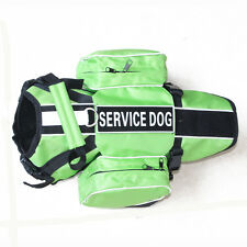 Service Dog vest Harness + Removable Saddle Bags Pockets + 2 Magic Patches