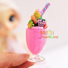 Food Dollhouse Miniature Strawberry Icecream sundae w/plastic cup for Doll