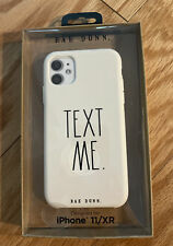 """New Rae Dunn Iphone 11/XR Phone Case """" TEXT ME """" SOFT TOUCH Case - White"""