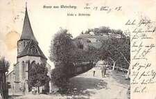 Weinsberg B.W. Germany Gruss aus birds eye view church antique pc Y13701