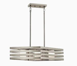 43686NI Kichler Realta 3-Light Brushed Nickel Modern/Contemporary Chandelier