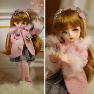 Beauty Toy 30cm Mini BJD Doll 1/6 Ball Jointed Girl Dolls with Full Set Clothes