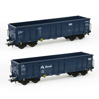 1pc/2pcs HO Scale Open Gondola Car 1:87 Railway Container Carriage Freight Car