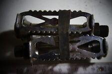 pédale de vélo ancien chrome