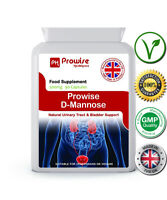 D-Mannose 90 Cap Natural Urinary Tract & Bladder Support 500mg UK Made - Prowise