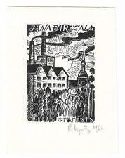 PETERIS UPITIS: Exlibris für Jana Birzgala, Valmiera, 1966