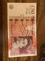 1 BRITISH £50 POUNDS, Pound, Britain, Good Condition, Banknotes, Bank Note, Dt
