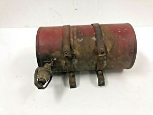 Vintage GAS TANK red small engine w Strap Brackets Go Kart mini bike parts fuel