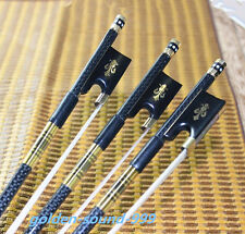 5 pcs professional black Carbon fiber violin bows 4/4 new bow