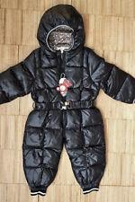Schneeanzug Skianzug Winterjacke Jacke Daunenjacke Anzug Baby Kind schwarz 92