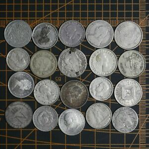 World Numismatics 🌎 🌍 🌏  Collections // Lot 20 Silver   Coins # From 1$
