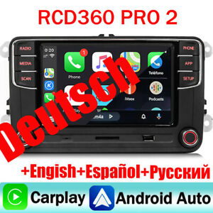 Autoradio RCD360 PRO Carplay Android Auto BT Für VW Golf Passat Polo Jetta Eos