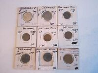 LOT OF (16) EARLY 1920'S GERMAN PFENNIG COINS & MORE IN COIN SLEEVES - TUB A25