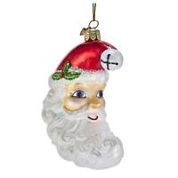 Kurt Adler Moon Santa Claus Face Retro Vintage Style Decor Christmas Ornament