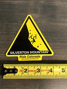 "Genuine Silverton Mountain Colorado Sticker / Decal 4"" High Quality ski area"