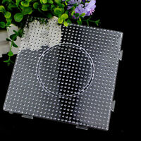 6pcs Kids Large Pegboards Perler Bead Hama Fuse Beads Clear Square Design Board