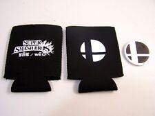 2 Nintendo SUPER SMASH BROS 3DS WiiU Mario PROMO KOOZIE Drink Holders & 1 BUTTON