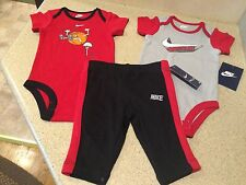 Nike 3 Piece Novelty Basketball Baby Pants, & 2 Tees Size 3-6 Months