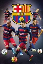 FC Barcelona FAB FIVE 2016 POSTER - Lionel Messi, Neymar, Suarez, Alves, Iniesta