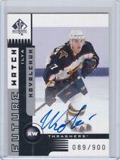 2001-02 SP Authentic #175 Ilya Kovalchuk 89/900 RC Auto Montreal Canadiens