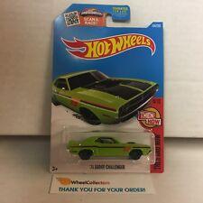 '71 Dodge Challenger #104 * Green * 2016 Hot Wheels * WH4