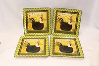 Certified International Oh Happy Day Dan Dipaolo Dinner Plates Lot of 4 Lot B