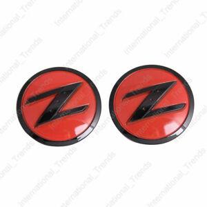 For 370Z 350Z 2x Red & Black Right Left Front Fender Z Logo Emblem Badge