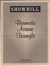 "Bea Arthur, Renee Taylor, Joe Bologna  ""Bermuda Avenue Triangle""  Playbill  1996"
