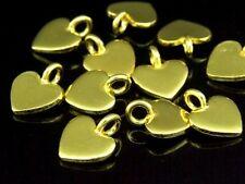 Gold Vermeil Plain Heart Shape Charm Kg-270 Thai Karen Hill Tribe Silver 8