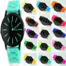 Men's Silicone/Rubber Band Round Not Water Resistant Watches
