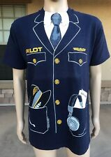 EUC Vintage 1981 Pilot Costume T Shirt Fruit Of The Loom USA Made Size Large