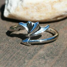 Dragons Wing Band 925 Sterling Silver Ring, Handmade, From Canada, Adjustable